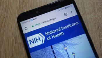 KONSKIE, POLAND December 04, 2018: National Institutes Of Health Website (www.nih.gov) Displayed On Smartphone